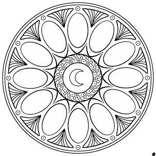 Mandala Di Primavera Pasqua Da Colorare Mandalaweb